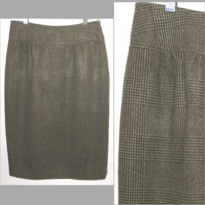 Max Mara skirt 8 Wool Angora Herringbone Straight